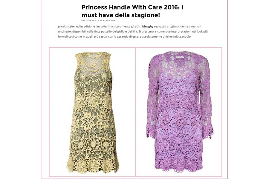 Abiti in pizzo eleganti Princess Handle With Care
