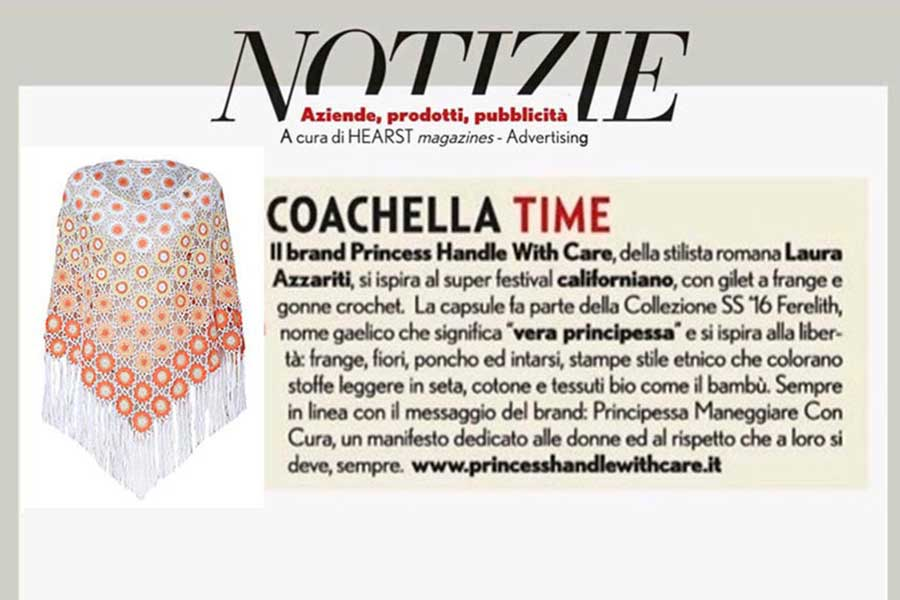 poncho pizzo stile coachella princess Handle with Care