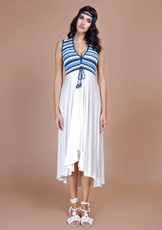 abito lungo estivo bianco