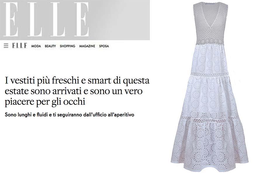 abito bianco lungo sangallo cotone princess handle with care