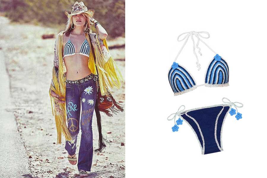 Bikini in cotone Princess Handle With Care editoriale cosmopolitan