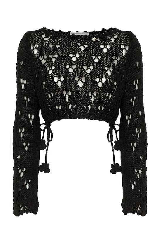 coprispalle nero in lana Princess Handle With Care