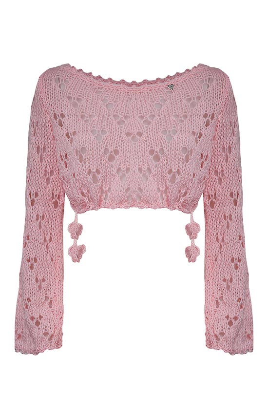 coprispalle in lana pizzo rosa Princess Handle With Care