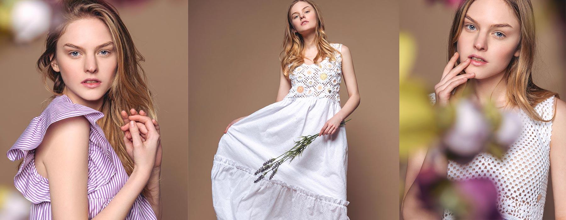 collezione estiva moda donna made in italy roma